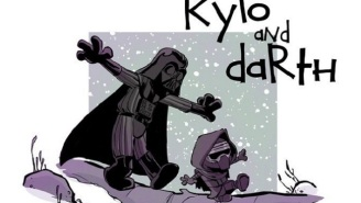 'Calvin And Hobbes' Re-Imagined As 'Star Wars: The Force Awakens' Are The Drawings We're Looking For
