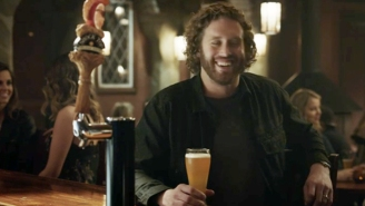 T.J. Miller Gets Into A Fight With A Talking Orange In This Shock Top Super Bowl Commercial