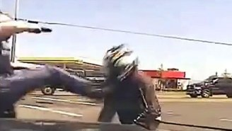 This Motorcyclist Just Won A Lawsuit Against The Cop Who Literally Kicked Him