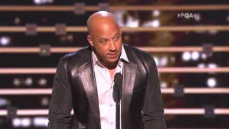 Vin Diesel Holds Back Tears While Singing In Tribute To Paul Walker At 'The People's Choice Awards'