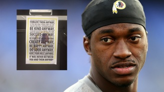 RGIII Cleared Out His Locker And Left Behind A Pretty Weird Note
