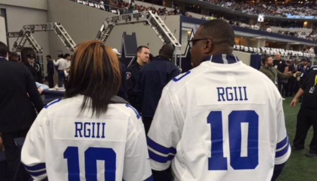 5ac87c6d Robert Griffin III's Aunt And Uncle Wore Cowboys RG3 Jerseys