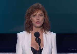 Did The Internet Overreact To Susan Sarandon's 'Exposed' Look At The SAG Awards?