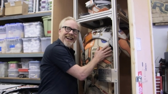 Adam Savage Morphs Into A Vision Of Pure Joy As He Unboxes The Space Suit From 'The Martian'