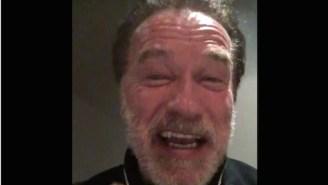 Arnold Schwarzenegger's Inspirational Speech To J.J. Watt Is Why People Love Him