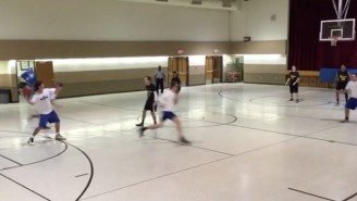 Check Out This Crazy 'Hail Mary' 3-Pointer To Start A Rec League Basketball Game