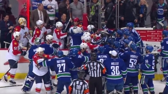 A Postgame Melee Broke Out, And Florida's Announcer Had Some Bizarre Insults For Vancouver