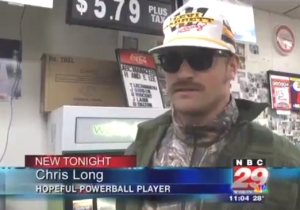 Rams' Chris Long Disguised Himself As A 'Hopeful Powerball Player' For A Hilarious Local News Interview