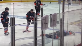 An AHL Fight Ended With A Player Being Stretchered Off After A Scary Knockout