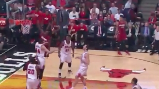 Luol Deng Freezes Nikola Mirotic With A Stutter Step Before Soaring For A Slam