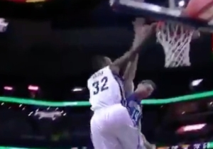 You'll Want To Hang This Poster Dunk From Jeff Green On Your Wall
