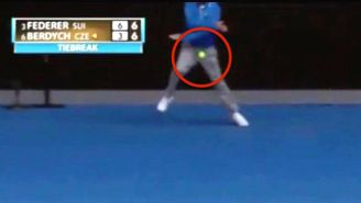 An Australian Open Line Umpire Took A Tennis Ball Straight To The Genitals