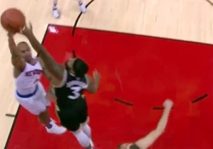 James Johnson Gets Insane Extension On This Lefty Block Of Arron Afflalo