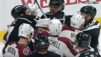 This Linesman Took A Punch Right In The Face From Milan Lucic