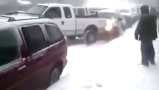 This Insane Multi-Car Pileup Serves As A Cautionary Tale During Winter Storm Jonas
