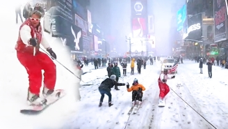 These Guys Make The Most Out Of #Blizzard2016 By Snowboarding Around New York City