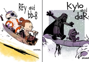 Excuse me, why aren't there more of these Calvin & Hobbes/Star Wars cartoons!?