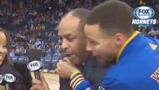 Steph Curry Videobombed His Dad Like A Fanboy Before The Warriors-Hornets Game