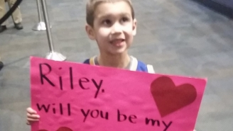 Steph Curry Isn't Quite Ready To Let This Charming Toddler Be Riley's Valentine