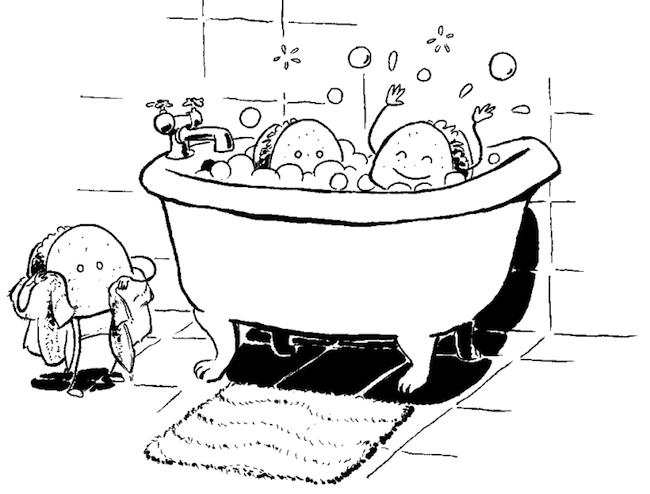 tacos bathing