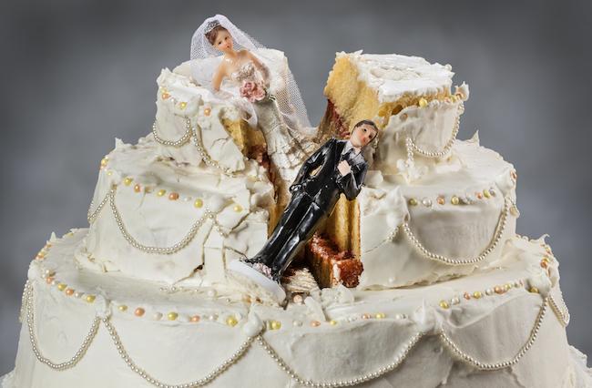 wedding cake divorce
