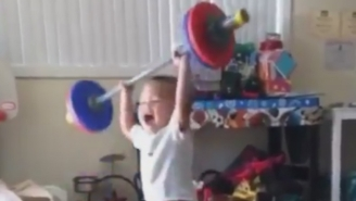 Meet The Most Intimidating Weight-Lifting Baby On The Internet
