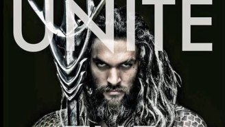 Our first good look at Jason Momoa's full Aquaman costume comes from ToyFair