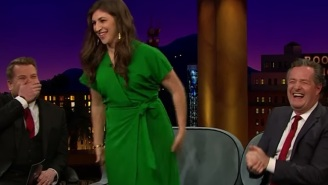 Mayim Bialik Flashed Her Cleavage To Piers Morgan And Nothing Makes Sense Anymore
