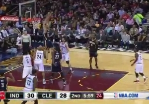 Chase Budinger Thinks He's Paul George And Comes Out Of Nowhere For The Two-Handed Put-Back Jam