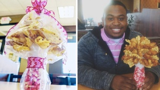 The Most Romantic Boyfriend Ever Gave His Girlfriend A Chick-Fil-A Bouquet For Valentine's Day