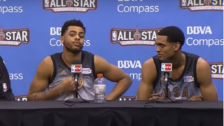 Jordan Clarkson Warns D'Angelo Russell 'Don't Say Nothing Crazy' When Asked About Playing Time