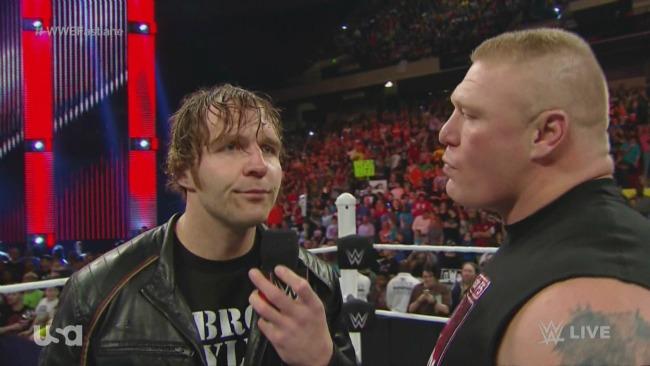 Brock Lesnar Vs  Dean Ambrose Is Official For WrestleMania 32