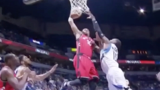DeMar DeRozan Put Shabazz Muhammad On A Poster With This Filthy Tomahawk Jam