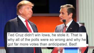 Donald Trump Accuses Ted Cruz Of Fraud And Demands 'A New Election'