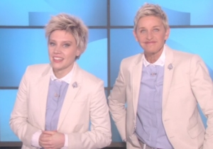Kate McKinnon Drops By 'Ellen' To Say She's The Real Ellen