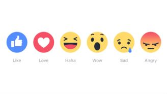 New Facebook Reactions Give The Like Button An Emotional Spectrum