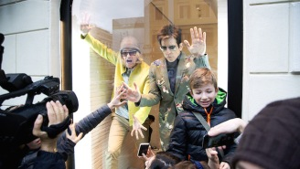 Ben Stiller And Owen Wilson Appeared As Living Mannequins In Rome To Promote 'Zoolander 2'