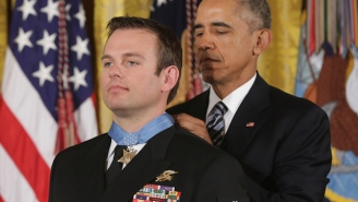 President Obama Presents The Medal Of Honor To A Navy SEAL Hero