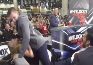 Rob Gronkowski Gave An Aggressive Lap Dance To A Fox Sports Reporter