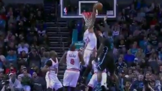 Hassan Whiteside Blocks And Grabs Marvin Williams' Shot Out Of Midair With One Hand