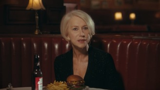 Helen Mirren With A Beer And A Burger Scolds Drunk Drivers In Super Bowl Commercial