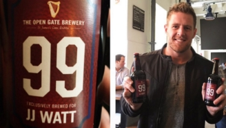 J.J. Watt Is Living Every Beer-Lover's Dream By Getting His Own Personalized Brew