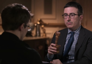John Oliver Interviewed Edward Snowden Without HBO's Knowledge