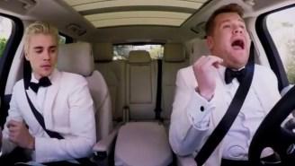 Justin Bieber And James Corden Do Carpool Karaoke On Their Way To The 2016 Grammys