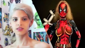Enjoy This Skilled Timelapse Showing A Woman Using Body Paint To Become 'Lady Deadpool'