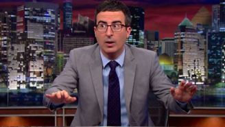 John Oliver drops the mic on Hollywood whitewashing so hard he breaks the stage