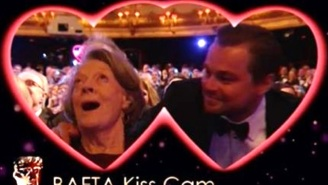 Leonardo DiCaprio Had A Fantastic Time With The Kiss Cam At The BAFTAs