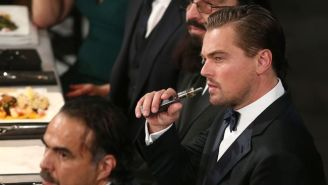 Leonardo DiCaprio's Post-Oscar Party Tour Includes A Whole Lot Of Vaping, Of Course