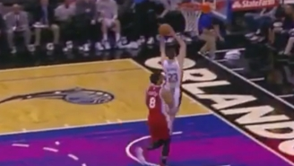 Mario Hezonja Breaks Free For The Two-Handed Flush Off The Opening Tip