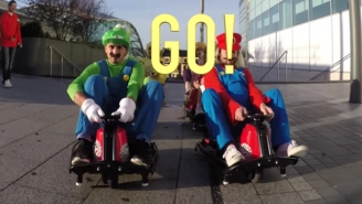You'll Wish This 'Mario Kart' Flash Mob Drove Into Town And Invaded Your Local Shopping Mall